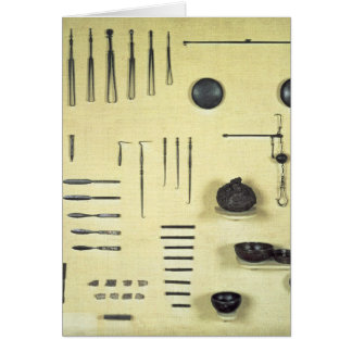 Instruments from an oculist's case, from Reims Card