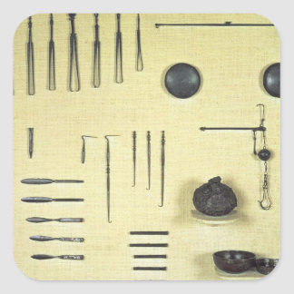 Instruments from an oculist's case, from Reims Square Sticker