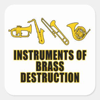 Instruments of Brass Destruction Square Sticker