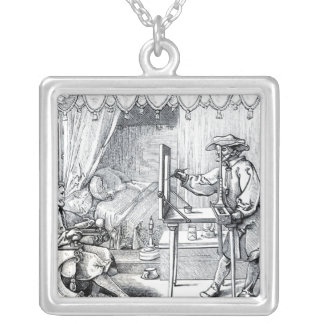 Instruments of Mathematical Precision Silver Plated Necklace