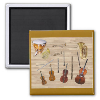 Instruments of the Orchestra 2 Inch Square Magnet