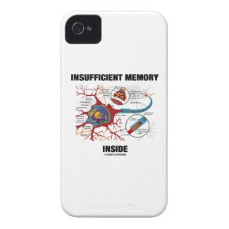 Insufficient Memory Inside (Neuron / Synapse) Case-Mate iPhone 4 Cases