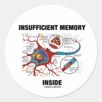 Insufficient Memory Inside (Neuron / Synapse) Sticker