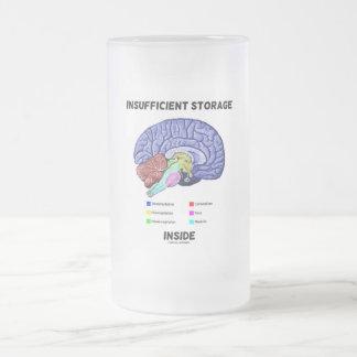 Insufficient Storage Inside (Brain Anatomy Humor) Frosted Glass Beer Mug
