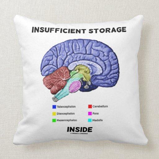 Insufficient Storage Inside Brain Anatomy Humor Throw