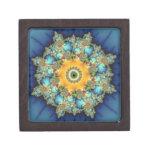 Insular - arte de Mandelbrot Caja De Recuerdo De Calidad