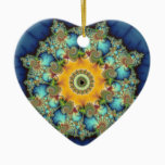 Insular - Mandelbrot Art Ceramic Ornament