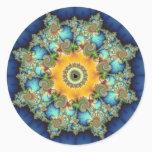 Insular - Mandelbrot Art Classic Round Sticker