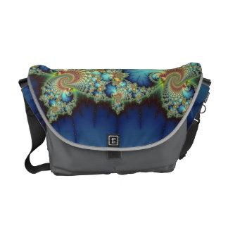Insular - Mandelbrot Art Courier Bag