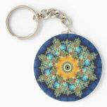Insular - Mandelbrot Art Keychain