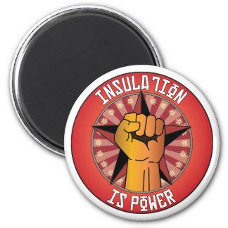 Insulation Is Power 2 Inch Round Magnet