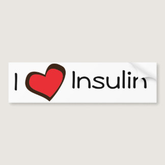 Insulin Bumper Sticker