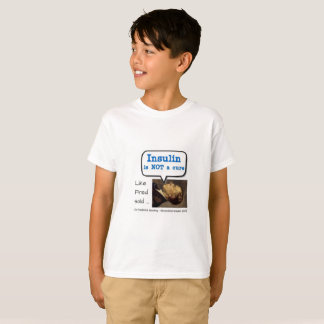 Insulin is not a cure - bubble T-Shirt