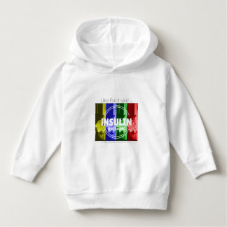 Insulin is not a cure - rainbow hoodie