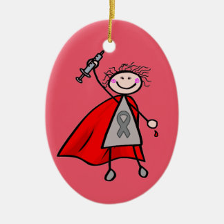 Insulin Superhero Christmas Tree Ornaments