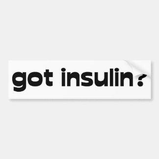 insulina conseguida pegatina de parachoque