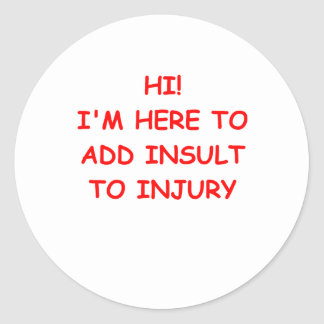 INSULT.png Classic Round Sticker