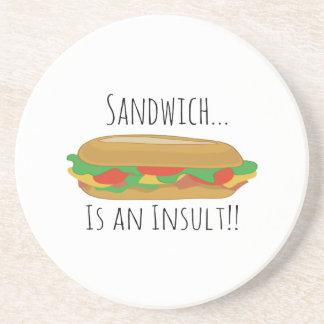 Insult Sandwich Beverage Coasters