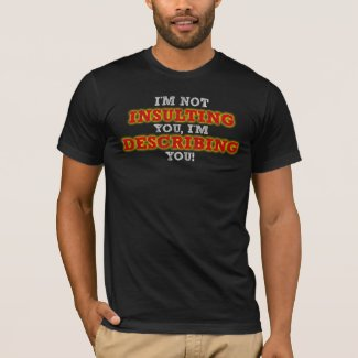 Insulting Describing Funny T-Shirt