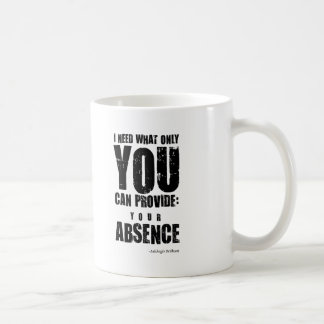 Insulting Mug #1 - Your Absence. Unusual gift.