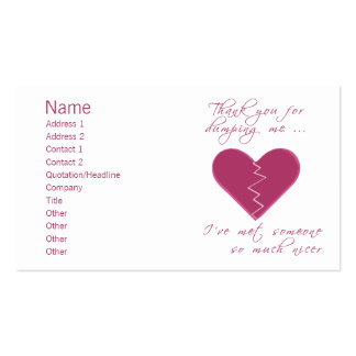 Insulting Valentine Business Card