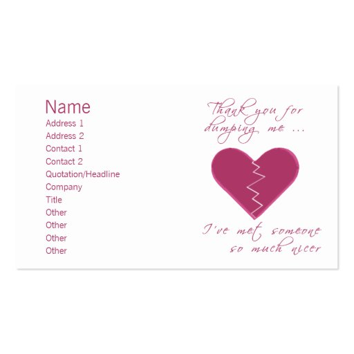 Insulting valentine business cards zazzle for Zazzle business card