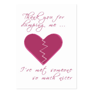 Insulting Valentine Gift Tag Large Business Card