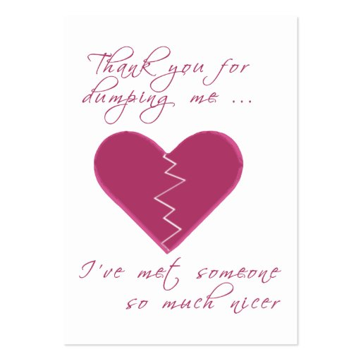 Insulting Valentine Gift Tag Large Business Cards (Pack Of 100)