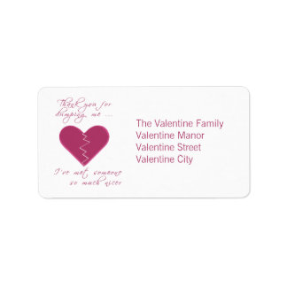Insulting Valentine Label