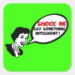 Insulto de la inteligencia pegatina cuadradas personalizadas