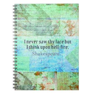 Insulto del FUEGO del INFIERNO de Shakespeare del  Libreta
