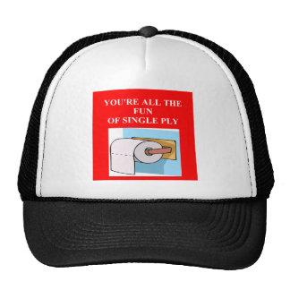 insulto del papel higiénico gorras de camionero