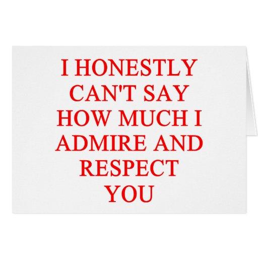 Insulto del RESPECTO Tarjeta