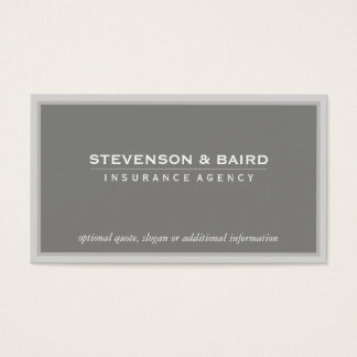 Insurance Agency  Business Card in Soft Taupe
