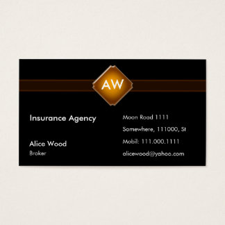 Insurance Agency | Initials Business Card