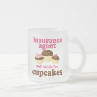 Insurance Agent (Funny) Gift Frosted Glass Coffee Mug