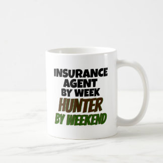 Insurance Agent Loves Hunting Classic White Coffee Mug