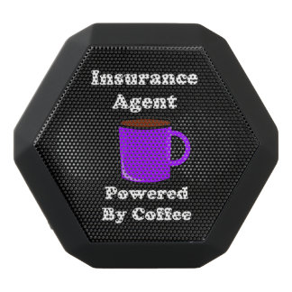"""Insurance Agent"" Powered by Coffee Black Bluetooth Speaker"