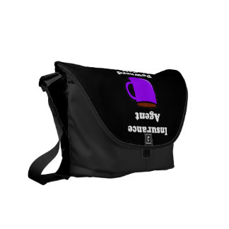 """""""Insurance Agent"""" Powered by Coffee Messenger Bag"""