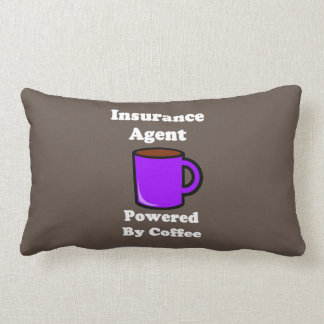 """Insurance Agent"" Powered by Coffee Throw Pillow"