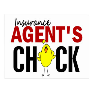 INSURANCE AGENT'S CHICK POSTCARD
