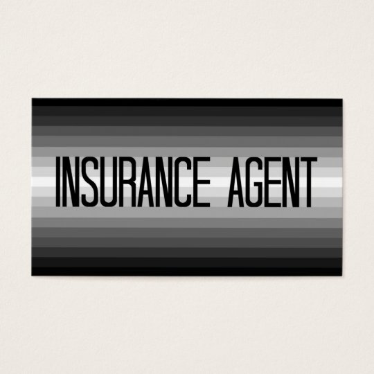 Insurance Agent Silver to Black Business Card