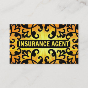 Insurance business cards 1900 insurance business card templates insurance agent sunshine damask business card colourmoves