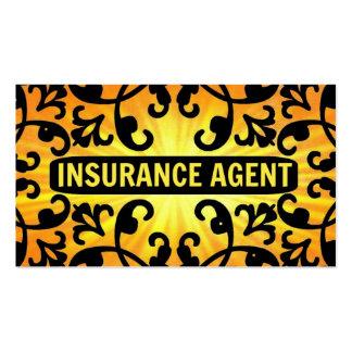 Insurance Agent Sunshine Damask Business Card