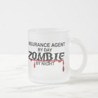 Insurance Agent Zombie 10 Oz Frosted Glass Coffee Mug