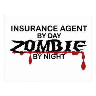 Insurance Agent Zombie Postcard