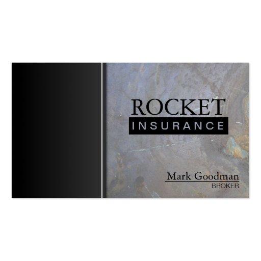 Insurance Broker Business Card - Rock Texture (front side)