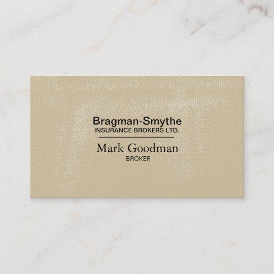 Insurance Broker Business Card - Simple Texture | Zazzle.com