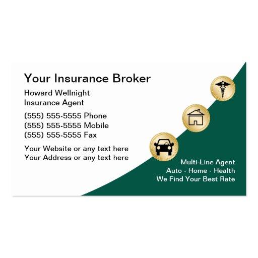 insurance broker business cards zazzle