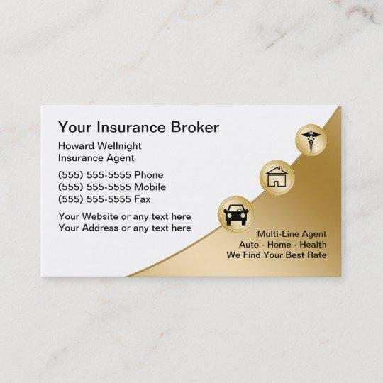 Insurance broker business cards zazzle insurance broker business cards colourmoves